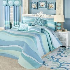 Duvet Covers: Ocean Tides Lightweight Coastal Bedspread Themed Duvet Covers Beach Living: astonishing coastal duvet cover for bedroom design