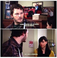 Parks and Recreation - an angel with no wings