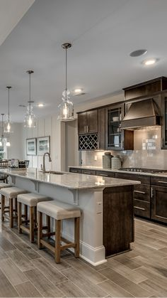 Kitchen Design Open, Kitchen Redo, Home Decor Kitchen, Interior Design Kitchen, Home Kitchens, Island Kitchen, Dream Kitchens, Luxury Kitchen Design, Custom Kitchens