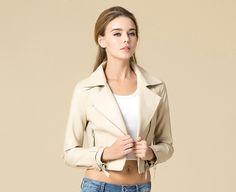 Woman's Leather Biker Jacket