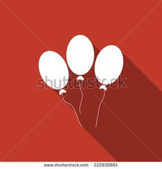 balloon icon with long shadow