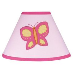 Sweet Jojo Designs Pink and Orange Butterfly Lamp Shade