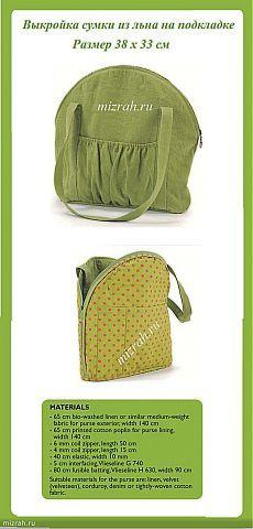 Выкройка сумки из льна на подкладке Kabelky 5941294a1f5