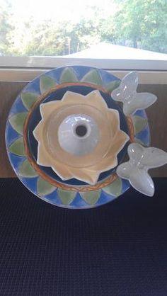 butterfly plate flower
