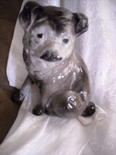 "vintage old ceramic Victorian dog french bull dog pug statue decoration decorfor sale in my store The Chic N Prim cottage ebay have to put in the ""the "" in search engine $30 FREE Shipping when you spend $30 or more!"