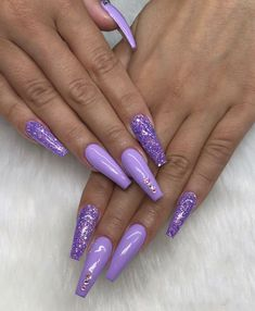 sparkling;Pointed;matte;acrylic;long;glitter;jewels For other models, you can visit the category. For more ideas, please visit our … Purple Acrylic Nails, Violet Nails, Summer Acrylic Nails, Best Acrylic Nails, Purple Nails With Glitter, Purple Stiletto Nails, Purple Nail Art, Nails Acrylic Coffin Glitter, Purple Chrome Nails