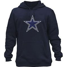Clor Mens Dallas Cowboys Super Athletic Pullover Hoodie