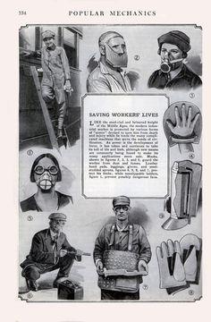 Vintage protective facewear.