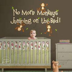 Wall Decal Wall Sticker Nursery decal  No More by designedDESIGNER, $58.00