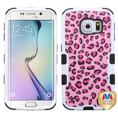 MYBATPink Leopard Skin/Black TUFF Hybrid Phone Protector Cover-G925 (Galaxy S6 Edge) Hybrid Protector Covers TUFF Hybrid Protector Covers