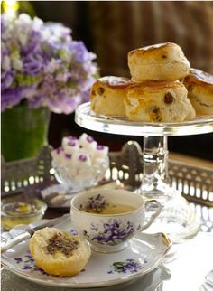 Afternoon tea. Tea and scones.
