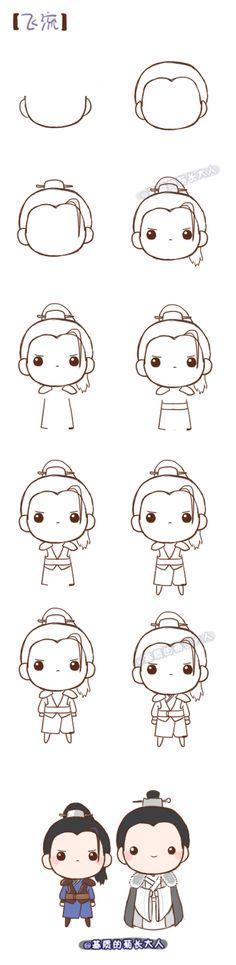 Tutorial diy, kawaii, and draw Cute Easy Drawings, Kawaii Drawings, Doodle Drawings, Disney Drawings, Doodle Art, Kawaii Doodles, Cute Doodles, Cartoon Sketches, Drawing Sketches