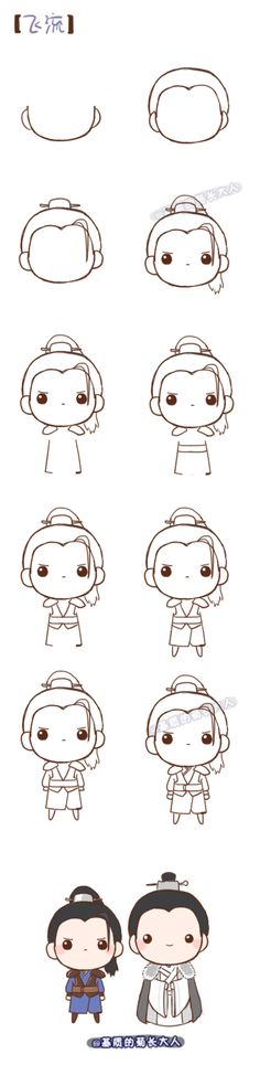 How to draw Fei Liu, @ Ju who grew up from the matrix
