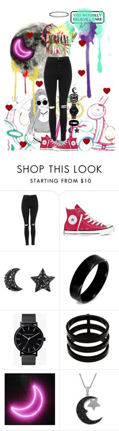 """""""You actually believe I care?"""" by galaxygirl12427 ❤ liked on Polyvore featuring HUF, Topshop, Converse, West Coast Jewelry, The Horse, Repossi and Jewel Exclusive"""