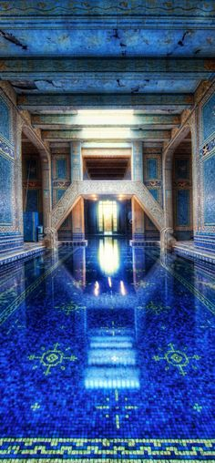 The azure blue indoor pool at Hearst Castle on the central coast of California • photo: Trey Ratcliff on stuckincustoms