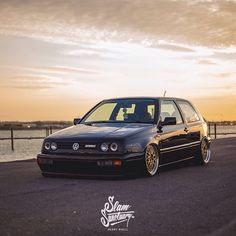 @powey's bagged Volkswagen Mk3 Golf VR6 is one of the best-sitting examples we've come across, complimented perfectly with BBS LM's, 'old but new' it really is the best of both worlds. Find out more in our latest feature now live on slamsanctuary.com