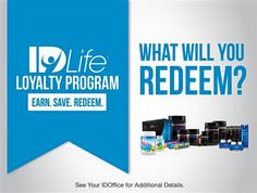 Idlife has a great new rewards points program, you will earn loyalty points on your #IDLife purchases to redeem FREE product! This program is for customers AND Associates! if you have purchased from me before log back in and start earning your loyalty points, if not jump on board now and earn your points. http://mywayoflife.idlife.com