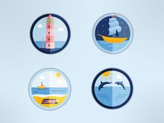 Dribbble - Icons - Ocean theme by Tess Donohoe