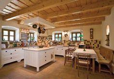 Mediterranean homes – Mediterranean Home Decor Dining Area, Kitchen Dining, Beige Kitchen, Wine House, Mediterranean Home Decor, Farmhouse Interior, Lofts, Home Interior Design, House Plans