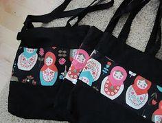 Shoulder bags w/ matryoshkas