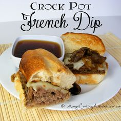 Amys Cooking Adventures: Crockpot French Dip. OK so this would be HARD to veganise. I mean they sell fake bologna, but au jus? Men I'll look it up lates