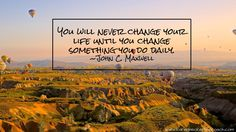Many people crave change, but aside from craving that change, what's happening to help elicit that change? That change won't happen until you decide what success looks like, create goals to get there (https://curious.com/karenbeckerfamilycoach/setting-smart-goals), and start working.  Today I ask you, what are you doing to create change in your life?