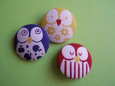 Owl button set from DaWanda shop Knopf-und-Kragen