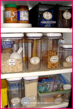 Great organized pantry!