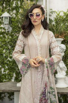 Pakistani Salwar Kameez, Pakistani Dresses, Designer Wear, Designer Dresses, Maria B, Eid Dresses, Pink Suit, Lawn Suits, Eid Collection