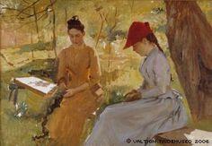 Edelfelt, Albert  Girls Binding Garlands (Annie and Berta Edelfelt) , n. 1886