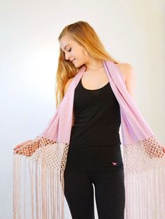 Purple Fringe Scarf  #bohemian #love #fallfashion #model #hippielove
