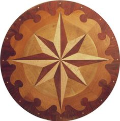 Compass Rose Pedestal Table Top