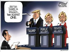 HILLARY'S SOCIALIST CARD HAS BEEN 'TRUMPED,' AND WITH HER HAVING A SEPERATE 'PUBLIC AND PRIVATE' OPPINION ON ALL ISSUES, I WOULD SAY GAME OVER!
