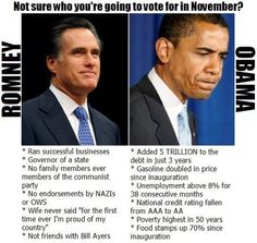 The choice is so clear: How in the world could anybody be a democrat? Vote for Romney/Ryan Nov & help get this country on the right track again, good grief! Barack Obama, United We Stand, Important News, State Of The Union, In God We Trust, Stupid People, American Pride, Funny Cartoons, Leadership