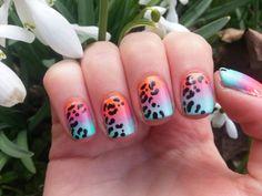 Nice Nails: Leopard Gradient