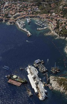 The Costa Concordia Salvage Operation From Above