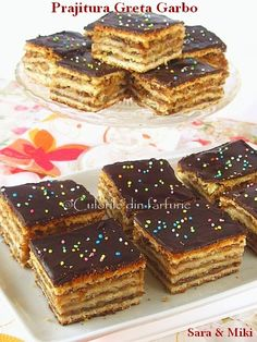 Prajitura Greta Garbo ~ Culorile din farfurie Food Cakes, Something Sweet, Cream Cake, Cravings, Cake Recipes, Sweet Treats, Cheesecake, Good Food, Sweets