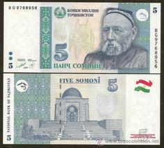 TAJIKISTAN. Billete de 5 somoni 1999