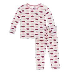 e2b2c4d56ebb Kickee Pants Print Long Sleeve Kimono Ruffle Romper - Natural Pig ...