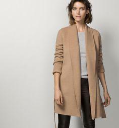 COAT WITH BELT - Coats & Jackets - WOMEN - Spain - Massimo Dutti