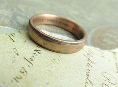 Rustic+Men's+Ring+14k+Rose+Gold+Wedding+par+JCMetalsmithJewelry,+$689.00