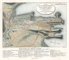 Plan of the town of Sydney, capital of the English Colony of Australia, Charles Alexander Leseur 1802 (just for you, Miz ) World History Lessons, Family History, Art History, I Think Map, Vintage Posters, Vintage World Maps, First Fleet, Australian Vintage, Modern Pictures