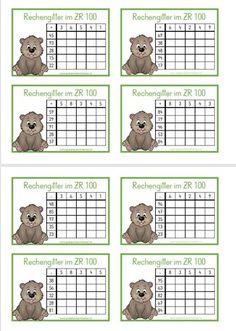 Rechengitter im ZR 100 - GEMISCHTE Aufgaben Math Board Games, I Spy Games, School Frame, Math 2, Math For Kids, Math Classroom, Educational Activities, Math Lessons, Second Grade