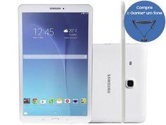 "Tablet Samsung Galaxy Tab E 8GB 9.6"" Wi-Fi - Android 4.4 Proc. Quad Core Câm. 5MP + Frontal"