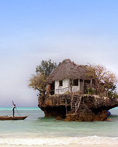 restaurant on a rock - Zanzibar