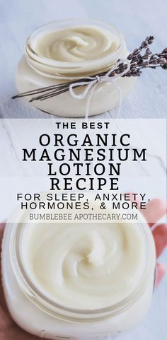 The best recipe for an organic magnesium lotion deficit . The best recipe for organic magnesium lotion # Magnesium deficiency Natural Skin Care, Natural Health, Natural Life, Make Up Organizer, Leave In, Diy Lotion, Lotion Bars, Diy Beauty Lotion, Homemade Body Lotion