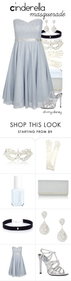 """""""Cinderella - Homecoming Masquerade"""" by oh-my-disney ❤ liked on Polyvore featuring John Lewis, Essie, Monsoon, AS29, claire's, City Chic, Prada, disney, cinderella and Masquerade"""