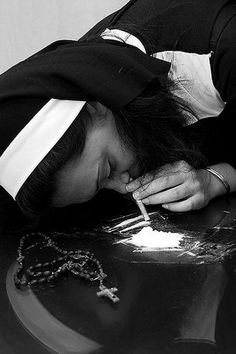 Nuns Snorting Cocaine.