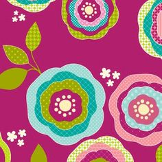 flower pattern--I can envision this being made with torn scrapbook paper circles and some cut out leaves and punched flowers.