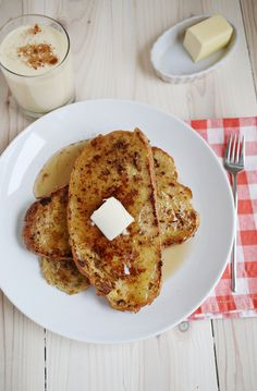Easy eggnog french toast